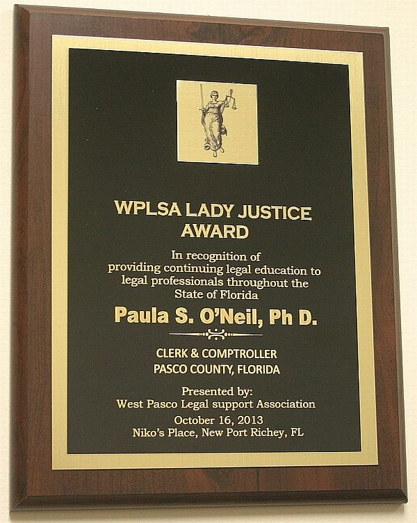 2013 WPLSA Lady Justice Award