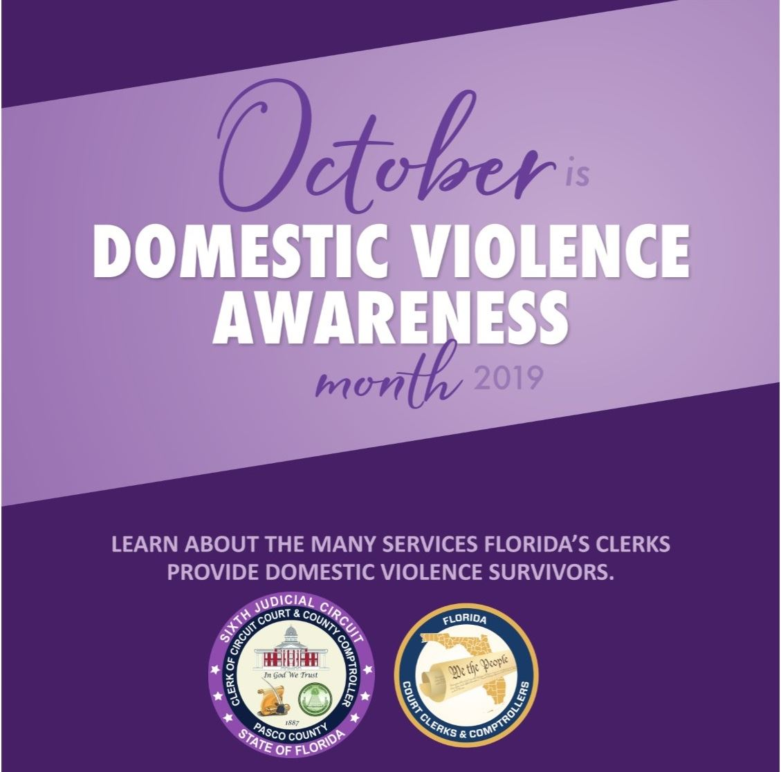 Domestic Violence Awareness Month, call about services